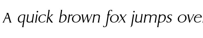 Preview of AaronBecker-ExtraLight Italic