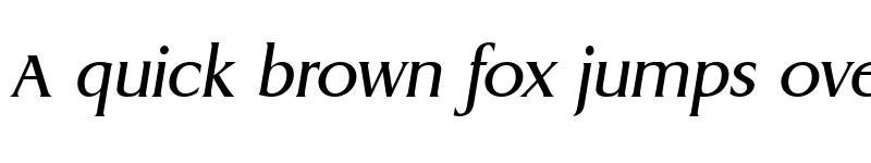 Preview of AaronBecker Italic