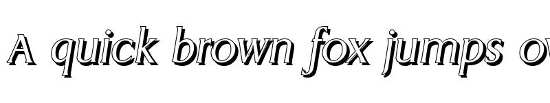 Preview of AaronBeckerShadow-Light Italic