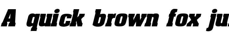 Preview of AaronBoldExpd Italic