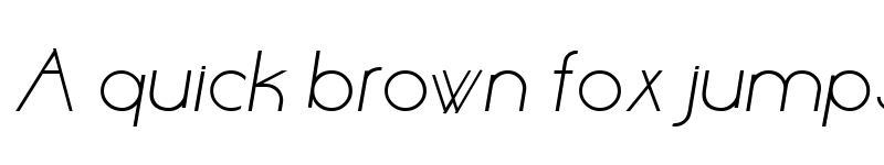 Preview of Aase Light Bold Italic