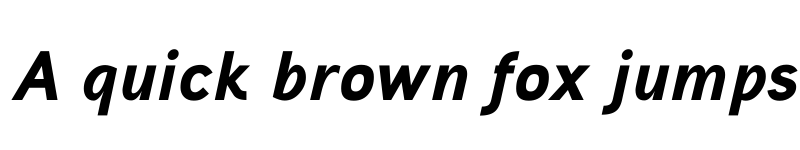 Preview of Aaux ProBlack Italic Regular