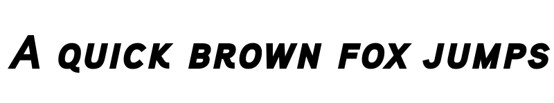 Preview of Aaux ProBlack Italic SC Regular