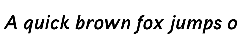 Preview of Aaux ProBold Italic OSF Regular