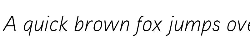 Preview of Aaux ProLight Italic Regular