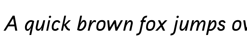 Preview of Aaux ProMedium Italic OSF Regular