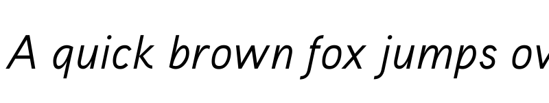 Preview of Aaux ProRegular Italic OSF Regular