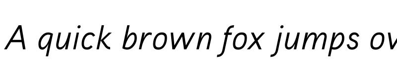 Preview of Aaux ProRegular Italic Regular