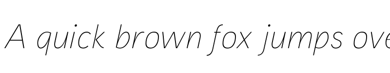 Preview of Aaux ProThin Italic Regular