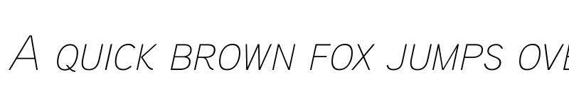 Preview of Aaux ProThin Italic SC Regular