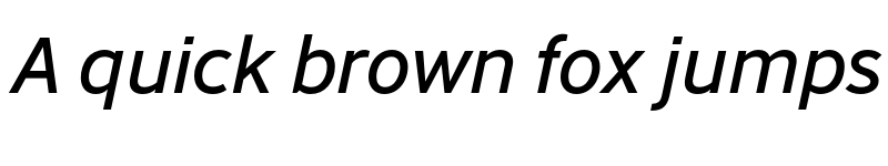 Preview of Abandon Italic