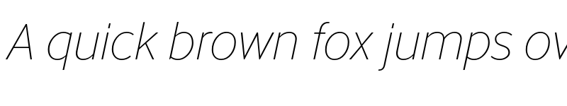 Preview of Abandon Thin Italic