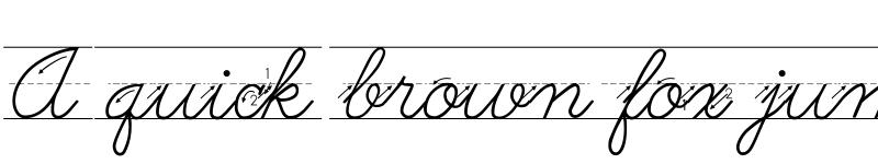 Preview of AbcCursiveArrow Regular