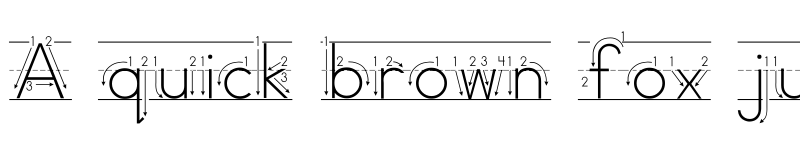 Preview of AbcPrintArrow Regular