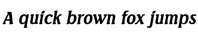 Preview of AbelBecker Bold Italic