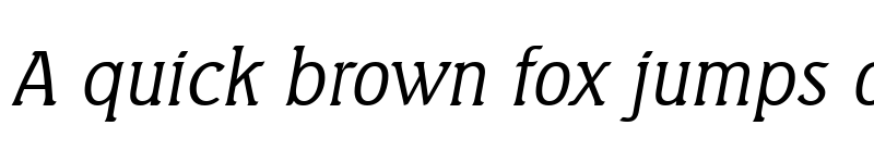 Preview of AbelBecker-Light Italic