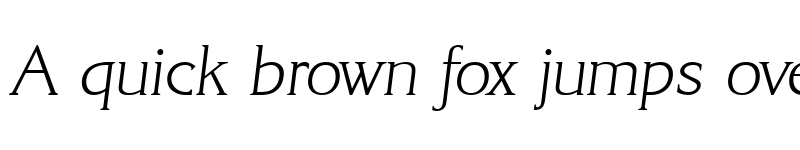 Preview of AlanBecker-ExtraLight Italic
