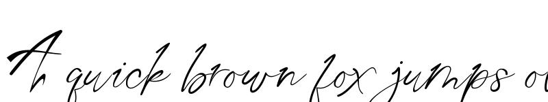 Preview of Aqua Script Regular