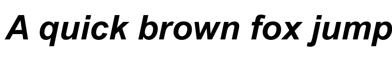 Preview of Arial MT Std Bold Italic