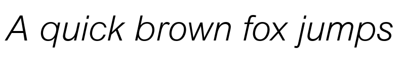 Preview of Arial MT Std Light Italic