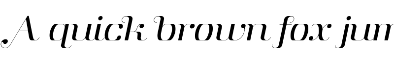 Preview of Aston Light Italic