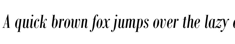 Preview of Bodoni MT Condensed Italic