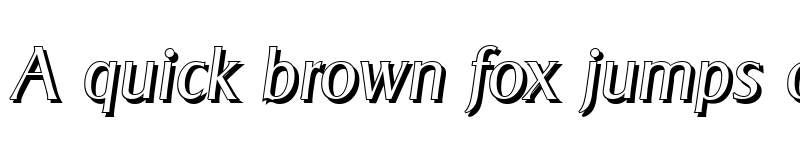 Preview of BruceBeckerShadow-Light Italic