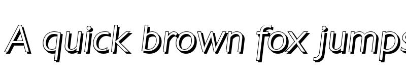Preview of DavidBeckerShadow-Light Italic