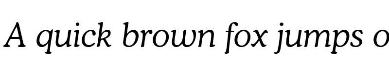 Preview of font115 Italic