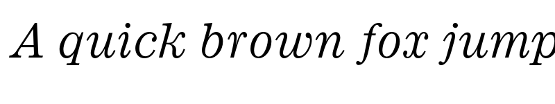 Preview of Ionic MT Std Italic