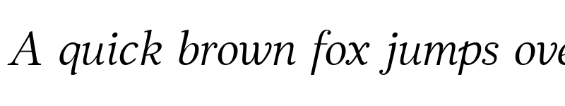 Preview of JabcedHy Italic