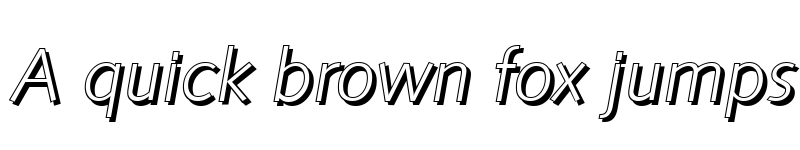 Preview of RogerBeckerShadow-Light Italic