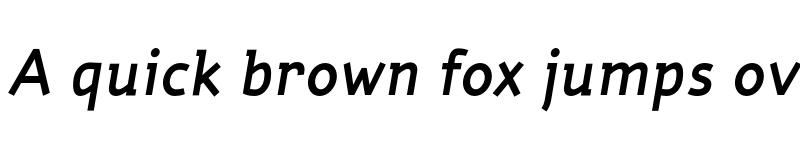 Preview of Torus Demi Italic