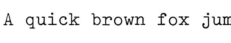 Preview of Typewriter Regular