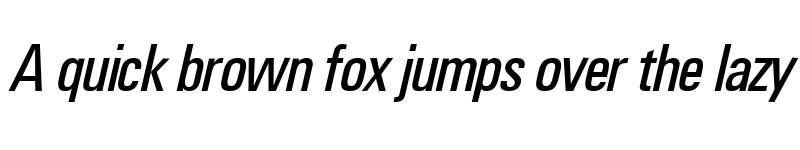 Preview of UnimpressedCondensed Italic