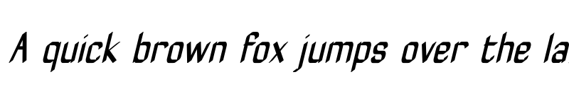 Preview of ZyphyteCondense Medium Italic
